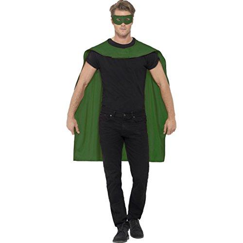 Superheld Kostüm Superheldenumhang & Maske grün Helden Kostüm Erwachsene Superman Umhang und Augenmaske Superhelden Cape Outfit Superhero Karnevalskostüm