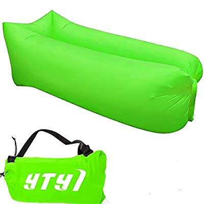 Inflatable Lounger, Portable Air Beds Sleeping Chair Sofa Couch Ideal For Lounging, Camping, Beach, Fishing, Chilling, Parties, Swimming Pools, Travelling, Backyard, Park - cheap UK light store.