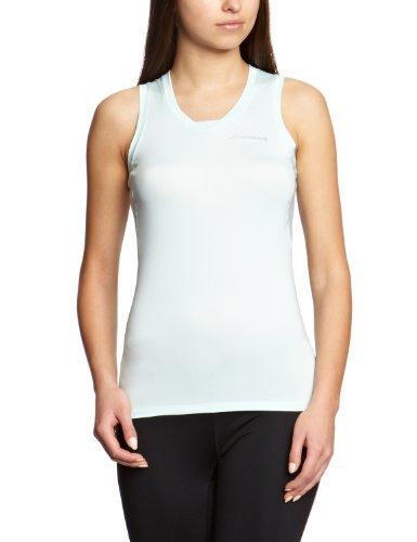 Brooks, Maglietta da corsa Donna Equilibrium Racerback II 220562, Bianco (Seafoam), L