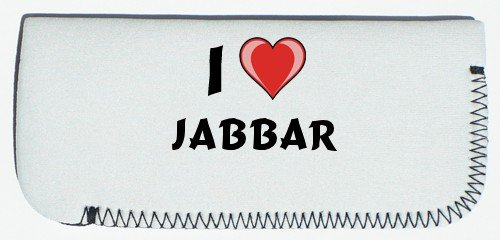 Glasses Case with I Love Jabbar (first name/surname/nickname)