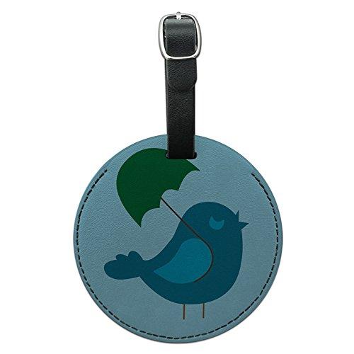 Cute Bird Baby Vogel Boy Dusche rund Leder Gepäck ID Tag Koffer Handgepäck (Cute Boy Koffer)