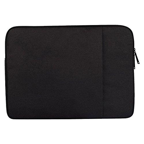 Laptoptasche Laptophülle Stoßfest Notebooktasche Laptop Schutzhülle Notebook Tasche Pc Laptop Schutztasche Macbook Acer Asus Dell Fujitsu Lenovo Hp Toshiba Schwarz 15.6