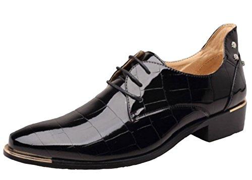 DADAWEN Homme Commercial Leather Brillant Chaussure Noir