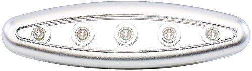 Lunartec Schranklicht: Stick-&-Push-Light Silver Giant mit 5 Hellen LEDs (LED Schrankleuchten)