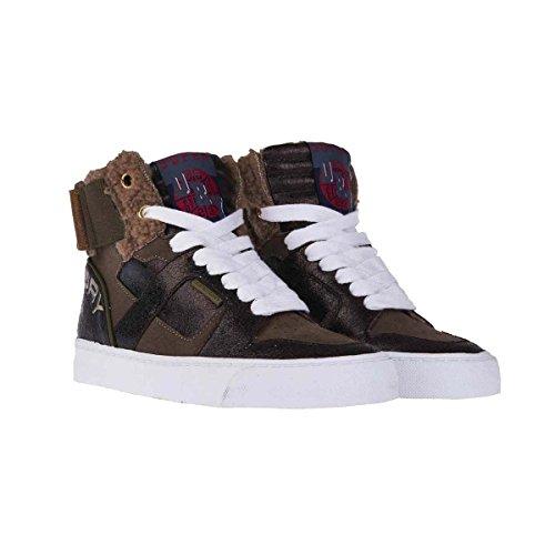 Superdry Basket Mariah High Top Sneaker Bronze