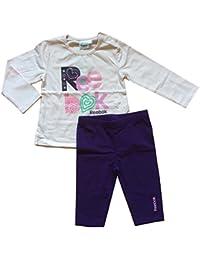 Reebok Infant Baby Girl Outfit Set algodón rosa y morado suave