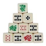 Haludock 10pcs / Set pour Les dés polyclassés polychromes de Poker en Acrylique