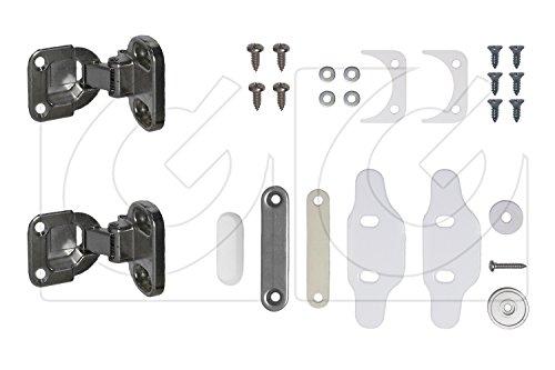 Kit de 2 bisagras para lavadora integrable + imán