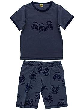 CeLaVi Toddler Boys' Pyjamas, Short Sleeve T-Shirt and Shorts,Truck Print, Navy, 4529