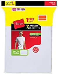 Hanes Herren Unterhemd Weiß Weiß