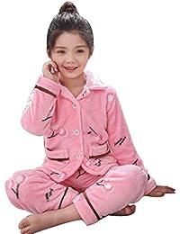 836b43d0d AXIANQI Conjunto De Pijamas para Niños Otoño E Invierno Ropa De Casa De  Niños De Franela Gruesa Pijamas De Dibujos Animados A (Color…