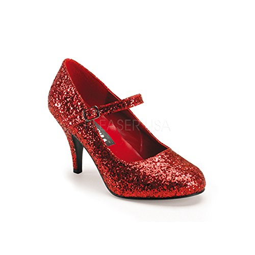 Oz Von Sexy Zauberer (Funtasma Zauberer von Oz-Schuhe Glinda-50G Glitter rot Gr.)