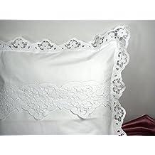 Housse de couette romantique for Parure de lit 240x260 blanc