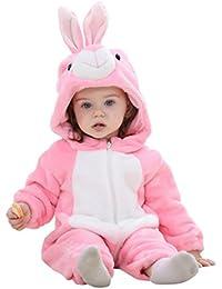 d5f0007b69d1e Koly Combinaison Pilote Bébé Hiver, Combinaison Pyjamas de Neige en Coton  Manteau à Capuche de
