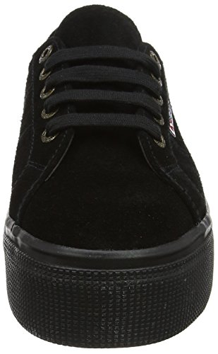 Superga Damen 2790 Suew Sneaker Schwarz (Full Black A09)