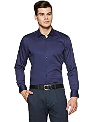 Amazon Brand - Arthur Harvey Men's Solid Slim Fit Formal Shirt