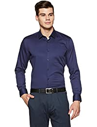 Amazon Brand - Arthur Harvey Men's Solid Formal Shirt
