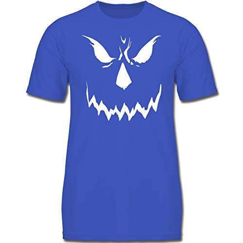 Anlässe Kinder - Scary Smile Halloween Kostüm - 128 (7-8 Jahre) - Royalblau - F130K - Jungen Kinder T-Shirt