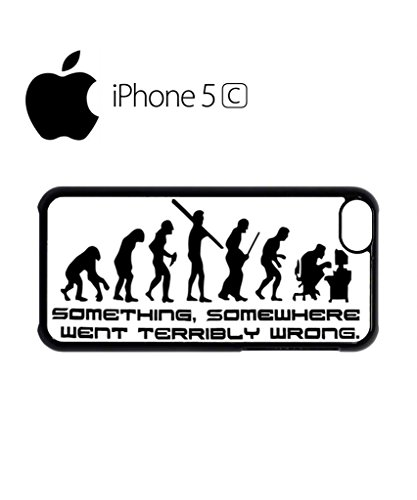 Something Somewhere Went Wrong Evolution Funny Hipster Swag Mobile Phone Case Back Cover Hülle Weiß Schwarz for iPhone 5c White Schwarz