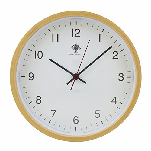 hippih-silent-wall-clock-wood-8-inches-non-ticking-digital-quiet-sweep-decorative-vintage-wooden-clo