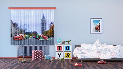 Ag design fcs xl 4312 - tende per camera bambini, motivo cars disney