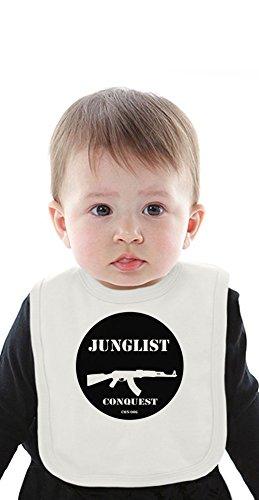 Junglist Conquest Organic Baby Bib With Ties Medium Bob Marley-baby Onesies