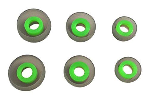 TCM SILIKON Buds {S M L} ♫ 3 Paar (6 Stück) Silikon Ohrpolster ♫ Gummi ersatz Buds für InEar Kopfhörer. Reduziert Geräusche & Verbessert Klang. Interne Größe {4-7mm} von The Case Market - 2