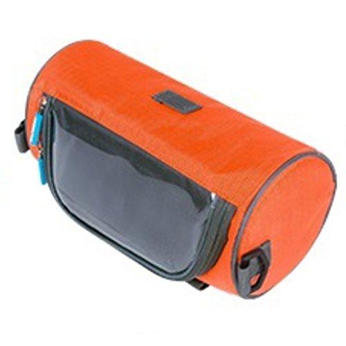 fucnen Front Tube Lenkertasche Fahrrad Halterung für Karte Wasserdichtes Bike Tasche Fahrrad Cycling vorne Korb Gepäckträgertasche mit abnehmbarer Schultergurt Orange