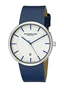 Stuhrling Original Man Fairmount 244.3315C2 - Reloj de pulsera cuarzo suizo Hombre correa dePiel Azul de Stührling Original