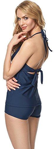 Merry Style Tankini per Donna MS10-113 Blu scuro