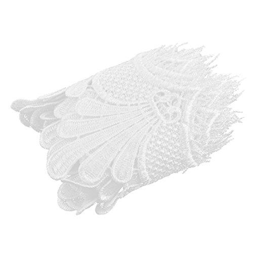 sourcingmap® Party Polyester Stickerei Kostüm Nähen Spitze stutzen Applikation 4,3Zoll (Oktoberfest Diy Kostüm)