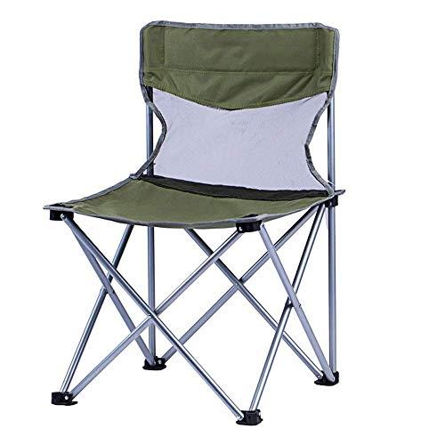 Lcxligang Leichte kompakte faltende kampierende Rucksack-Freizeit-Einteilige Stuhl-Stühle, Portable, kampierende Konzert-Stühle (Color : Green)