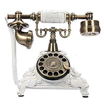 b54e58f07 Buy Bloomerang Vintage Swivel Corded Landline Phone (White) Online ...