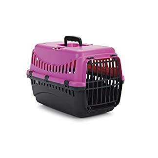 Beeztees Transport Box Gypsy, 45 x 26 x 29 cm, Pink/Anthracite_P Beeztees Transport Box Gypsy, 45 x 26 x 29 cm, Pink/Anthracite_P 41sSymTsy1L