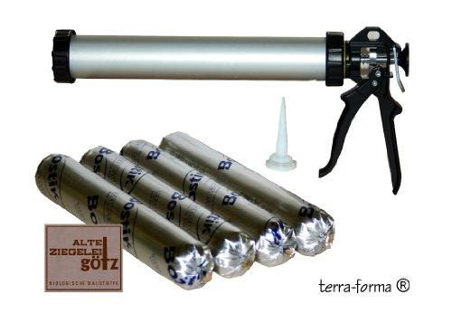 4 Stück Spritzkork Lösemittelfrei a 500 ml + 1 Handfugenpistole