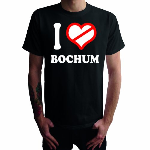 I don\'t love Bochum Herren T-Shirt, schwarz, XL