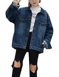 c7307a8337a101 Damen Jeansjacke Fashion Flamingo Buchstabe Gedruckt Langarm Boyfriend Jeans  Jacke Mode Marken Locker Casual Basic Einreihig Denim Mantel…
