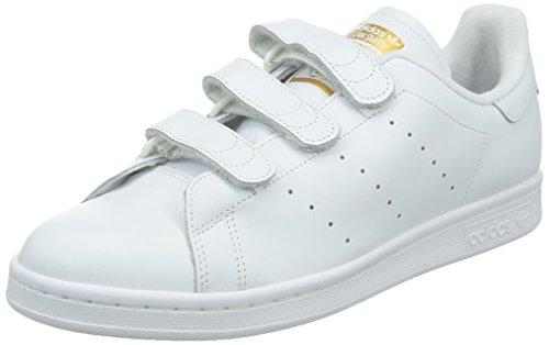 adidas Herren Stan Smith Cf Tennisschuhe, Weiß (Ftwr White/Ftwr White/Gold Met.), 44 EU
