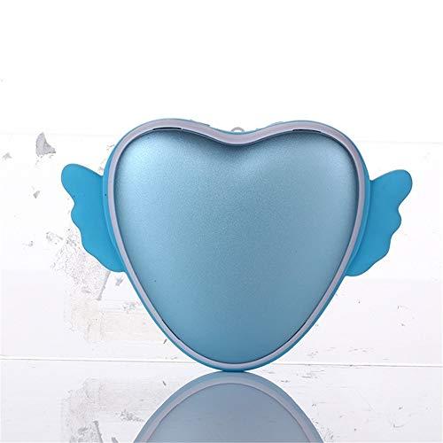 Night wall stufa a forma di cuore adorabile usb ricaricabile portatile a mano e piede in inverno, blu