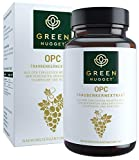 Green Nugget® OPC 400mg - Echtes Traubenkernextrakt aus der Champagne - Extrahiert ohne Alkohol - 100% Proanthocyanidine - Vegan - Tagesdosis in 1 Kapsel - 2 Monatsvorrat - Made in Germany