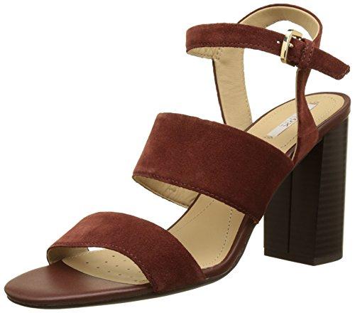Geox D Audalies High Sandalo A, Sandales Bout Ouvert Femme Marron (CIGARC6007)