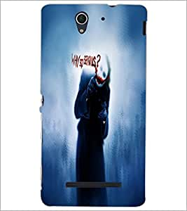 PrintDhaba Joker D-6067 Back Case Cover for SONY XPERIA C3 (Multi-Coloured)