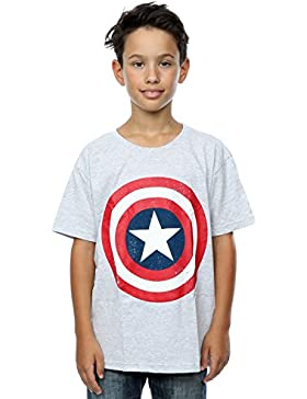 Marvel Niños Captain America Distressed Shield Camiseta