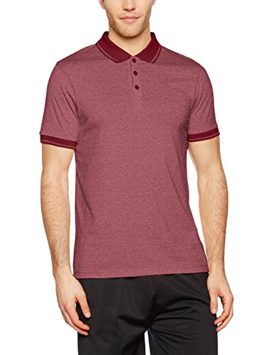 James & Nicholson Herren Poloshirt Men´s Heather Polo Rot (Wine-Melange/Wine), X-Large (Mens Shirt Jersey Polo)
