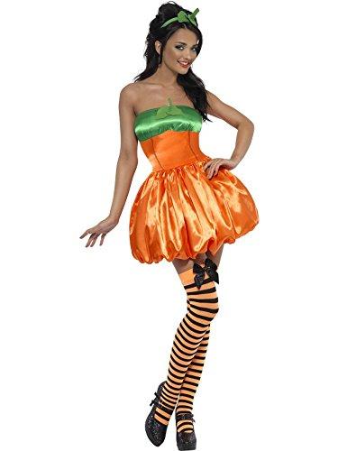 Smiffys Kostüm Kürbis - Smiffys Kostüm Karneval Kostüm Damen Halloween Kürbis 11929, Mehrfarbig M