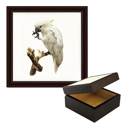 Cockatoo Image Wooden Jewellery Trinket Box -