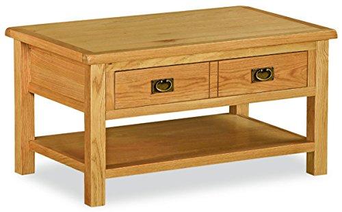 Global Home Bergerac Petite Couchtisch/Eiche rustikal Wachs Finish 1Schublade Wohnzimmer Tisch (Home Global)