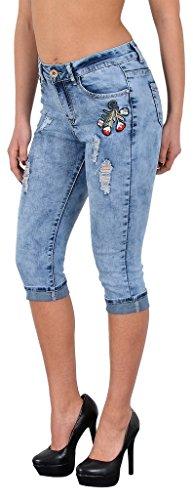 Jean femme capri pantalon pour femmes capri femmes jean en grandes tailles J242 J288