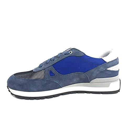 Exton scarpe uomo sneaker camoscio blu 993-camnav