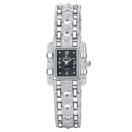 BEBIGFashion Bracelet Watch Women Rhinestone Elegant Quartz Watch Black